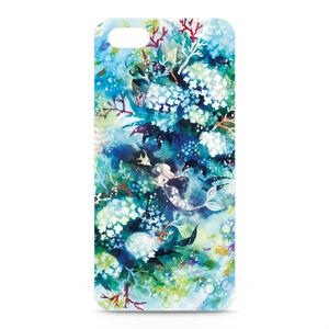 iPhone5,5Sケース・正面印刷【花咲く水底】