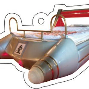 スペースシャトル型ベッドアクリルキーホルダー