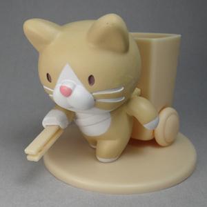 ようじ拾い猫(ベージュ)