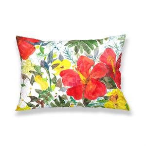 バリアート風フラワーデザインの枕カバー