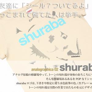 〝トーンカスまみれ〟shuraba Tシャツ(ナチュラル)
