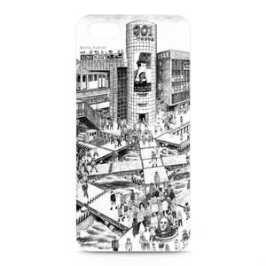 """鉛筆画iphoneケース """"帝都の東"""""""