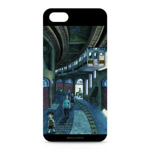 "鉛筆画iphoneケース ""最終列車"""