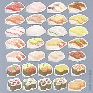 回転寿司のシール