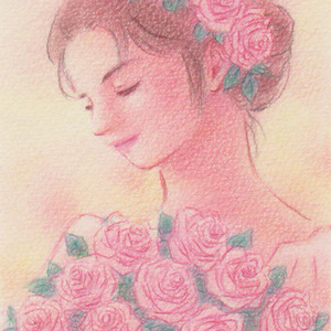 Roses~ソフトピンク~(120712)★手描き原画