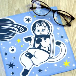 大判クリーナークロス『宇宙白猫マイカちゃん』めがねふき 宇宙を旅する白猫マイカシリーズ