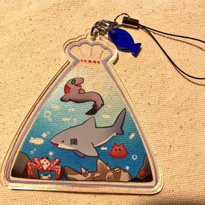【コミティア123新作】サメ詰め合わせ袋アクキー