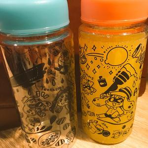 【新作】おでかけイカちゃんポーチ付きボトル