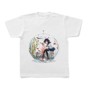 「水色」Tシャツ  S〜XL size
