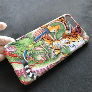 『龍虎図』和柄 iPhone ケース