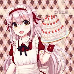 ケーキを持った艦これ・翔鶴の壁紙