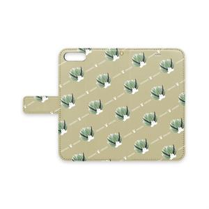 【受注販売】手帳型iPhoneケース(ウサギモウミウシ)