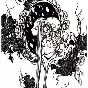 創作切り絵ポスター(A4) (スノーメイデン)