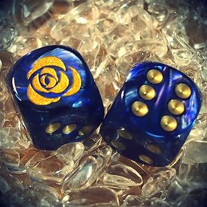 6面ダイス 青い薔薇