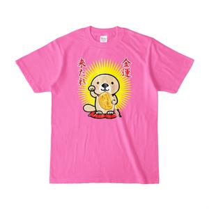 ラッコさん開運Tシャツ(ピンク)