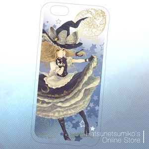 《iPhone6/6s》Akenokalas x Hatsunetsumiko's collaboration クリアハードケース(霧雨魔理沙)