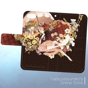 《iPhone6/6s/SE/5/5s》Akenokalas x Hatsunetsumiko's collaboration 手帳型ケース(風見幽香)