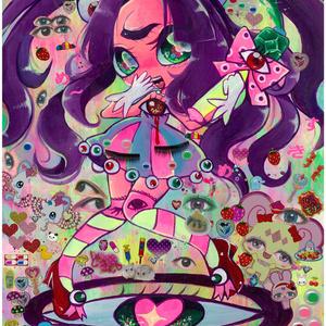 眼球系魔法少女目々野アイちゃんポストカード