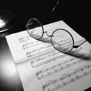 楽譜眼鏡拭き(タイトルあり)