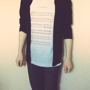 楽譜Tシャツ