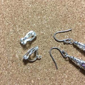 カラフルな刺繍糸タッセルのピアス・イヤリング