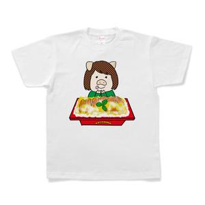 【期間限定】人間まお CR今日もカツ丼コラボTシャツ(ドル箱カツ丼_白)