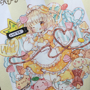 複製原画B5 ホットケーキちゃん✕お菓子