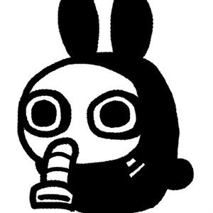 ガスマスクさんクッション