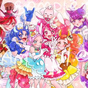 【キラキラ★プリキュアアラモード】 L版イラストカード2