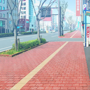 カラー背景素材 「街」