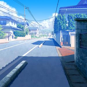 カラー背景素材 「住宅」
