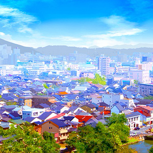 カラー背景素材「街・俯瞰」
