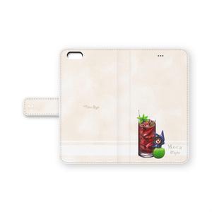 手帳型iPhone6Plusカバー カクテル・モカ