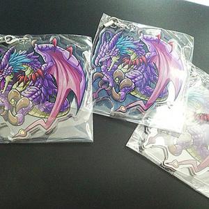 【通常配送】紫ドラゴンアクリルストラップ