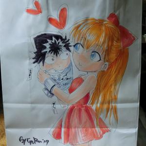 【幽白】手描き痛紙袋①