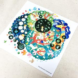 イラストカード(ひみつの樹の上で)