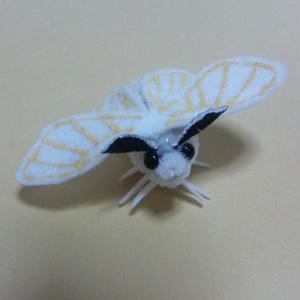 モールのお蚕様【受注生産】 カイコ 蛾 蝶 フィギュア カイコガ