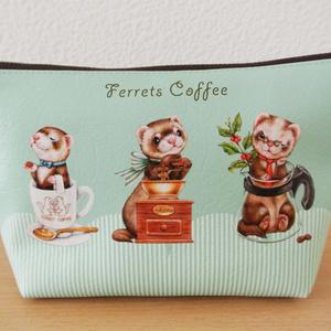 フェレットポーチ / Coffee break with Ferrets pouch