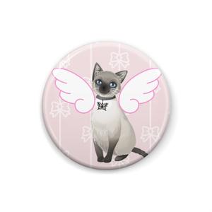 ネコ天使缶バッジ