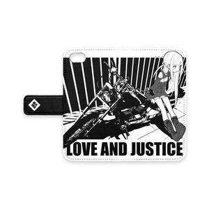 愛と正義手帳型iphoneケース