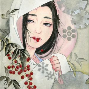 【原画販売】雪里 額装