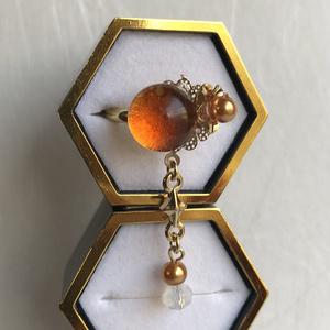 【刀ミュ 長曾祢虎徹イメージ】金橙色のピンキーリング