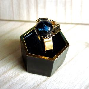 【謙信景光イメージ】紺桔梗色の刃(指輪)