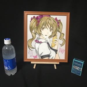 東方Project 姫海棠はたて アクリル画 原画 (サイン色紙サイズ) 額縁付き 送料込み