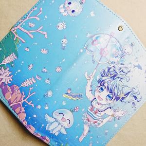 【受注生産】くらげ王国のお姫さま【手帳型Androidケース 】