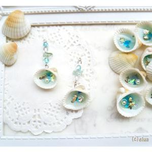 ★ピアス「貝殻の中の海」