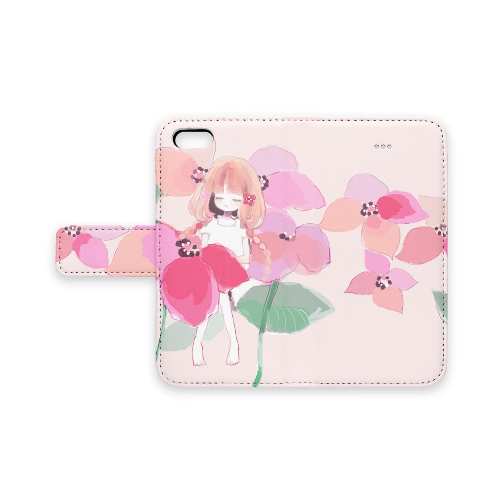 少女(Pink)手帳型iPhoneケース