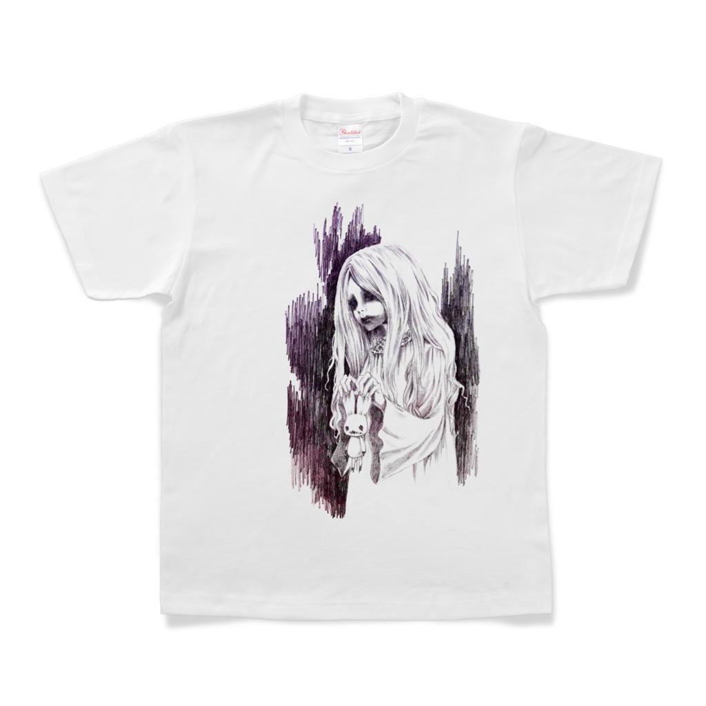幽霊と兎Tシャツ